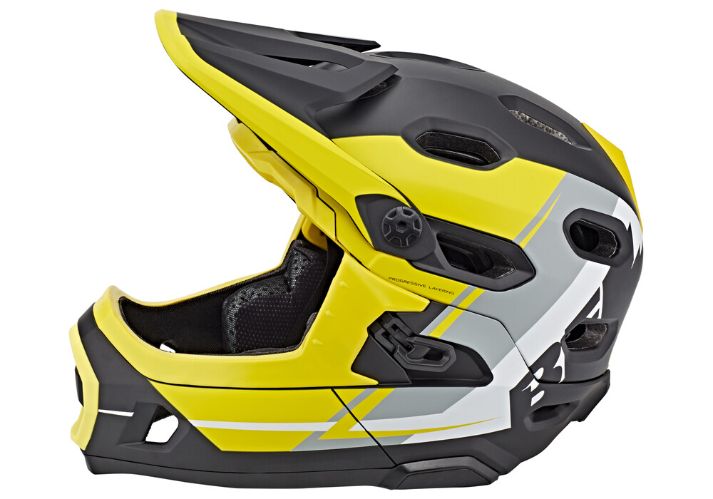 bell super dh mips mtb helmet yellow silver black online kaufen. Black Bedroom Furniture Sets. Home Design Ideas